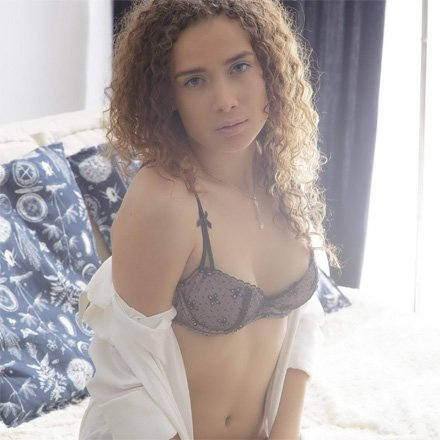 Curly Teen Caroline Passionate Sex